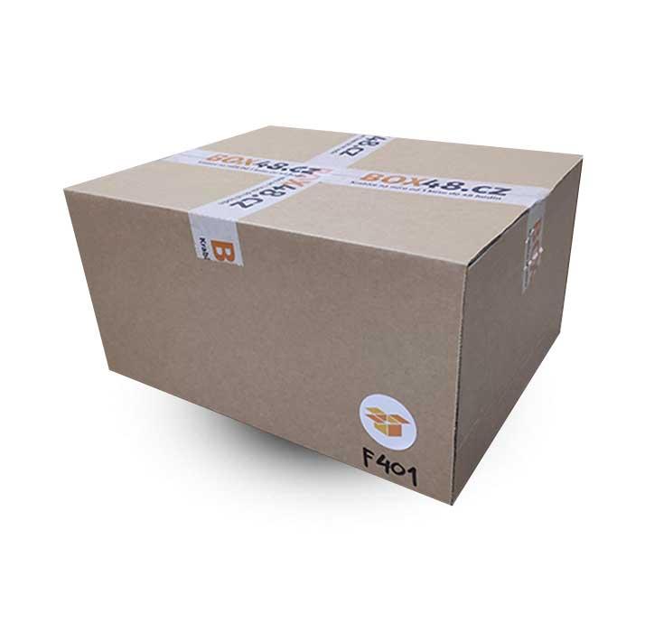 Krabice na míru F401 ve složeném stavu