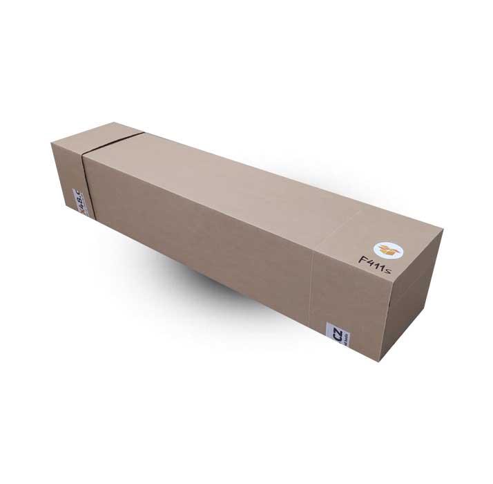 Krabice F411S ve složeném stavu